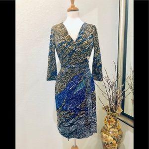 DVF multicolor wrap dress 8
